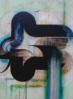 Superficial Cuts 1 - Abstract, Acrylic, Minimalist, Geometric, Contemporary Art