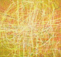 Wald #21 (Forest #21) - Abstract Expressionism, Contemporary, Hoeller, yellow