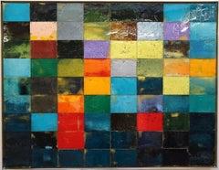 Mosaik 1382 - Contemporary, Abstract art, Acrylic Paint, Fahar Al-salih, 21st C