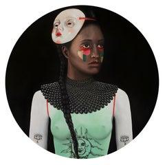 Tattoo Lady - Contemporary, Portrait, Figurative, Acrylic Glass, 21thC, female
