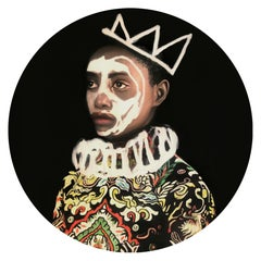 Principe - Contemporary, Portrait, Figurative, Acrylic Glass, Ltd. Edition