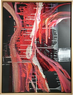 Sweetz edition Flambee - abstract art, Contemporary art, red, minimalistic, 21st