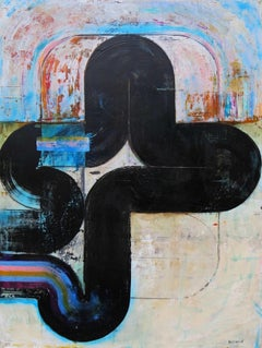 Superficial Cuts 3 - Abstract, Acrylic, Minimalist, Geometric, Contemporary Art