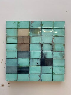 Mosaik 1362 - Contemporary, Abstract art, Acrylic, Resin, Colourful, turquoise