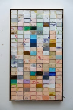 Mosaik 1306 - Contemporary, Abstract art, Acrylic, Resin, Colourful, 21st C