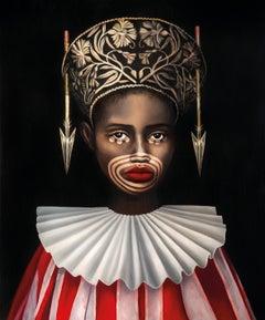 Queen of Spades - Contemporary, Portrait, Figurative, Female, Print, Woman