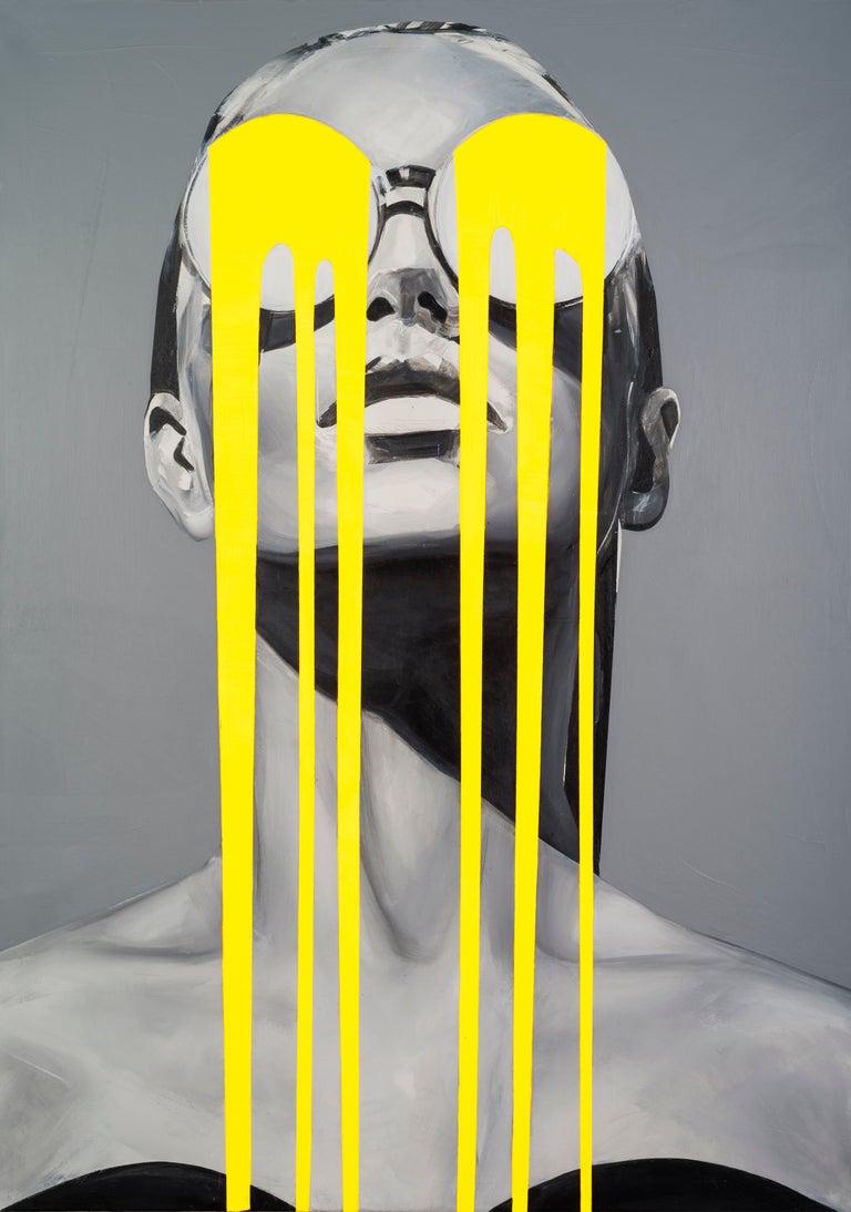 Illumination-Figurative, Pop Art, Contemporary art, Female Portrait, Edyta Grzyb - Print by Edyta Grzyb