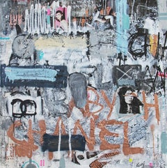 One Urban Abstraction - expressive, Painting, Contemporary Art, Chanel, abstract