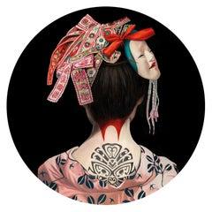 German Geisha  -Contemporary, Portrait, Figurative, Acrylic Glas, Geisha,Edition