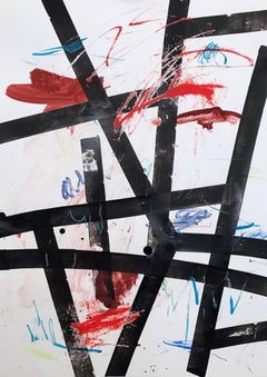 Flags - Abstract Expressionism, Abstract Art, Painting, Contemporary Art, 21thC