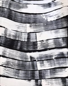 Wave to wave - monochrome, expressive, Abstract Art, Painting, Contemporary,21th