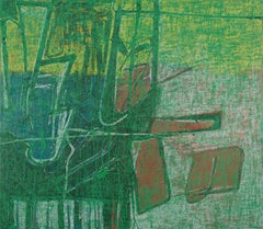 Klarwirrspieler - Abstract Expressionism, Contemporary, Hoeller, green, painting