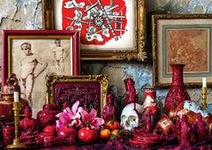 Red - Staged photography, vanity, stilllfe, fine art print, contemporary art