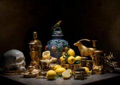 The Golden Table - Photography, vanity, stilllfe, fine art print, contemporary