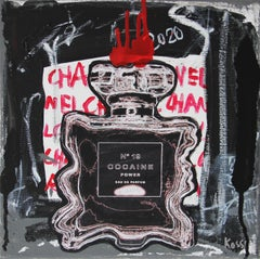 Nr. 19 Cocaine Power -black, red, expressive, Contemporary, Pop Art, Chanel