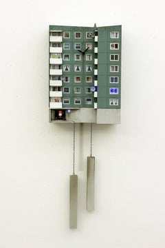 "Cuckoo Block ""Hamburg""-Wall Sculpture, Street art, architecture, 21th C, Gropius"