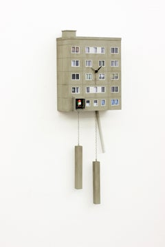 "Cuckoo Block ""Jena""-  Wall Sculpture, Street art, architecture, 21th C., Gropius"