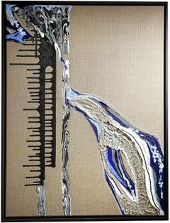 AQUA edition Spheniscidae- abstract art, Contemporary art, minimalistic, 21st