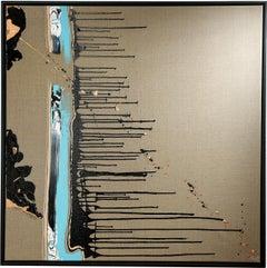 AQUA edition river of hope - abstract, expressive, Contemporary, minimalistic