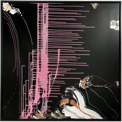 SWEETZ edition baklava- abstract art, Contemporary, black, minimalistic, pink