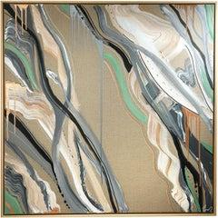 AQUA edition jade- abstract, expressive, Contemporary art, minimalistic, 21stC.