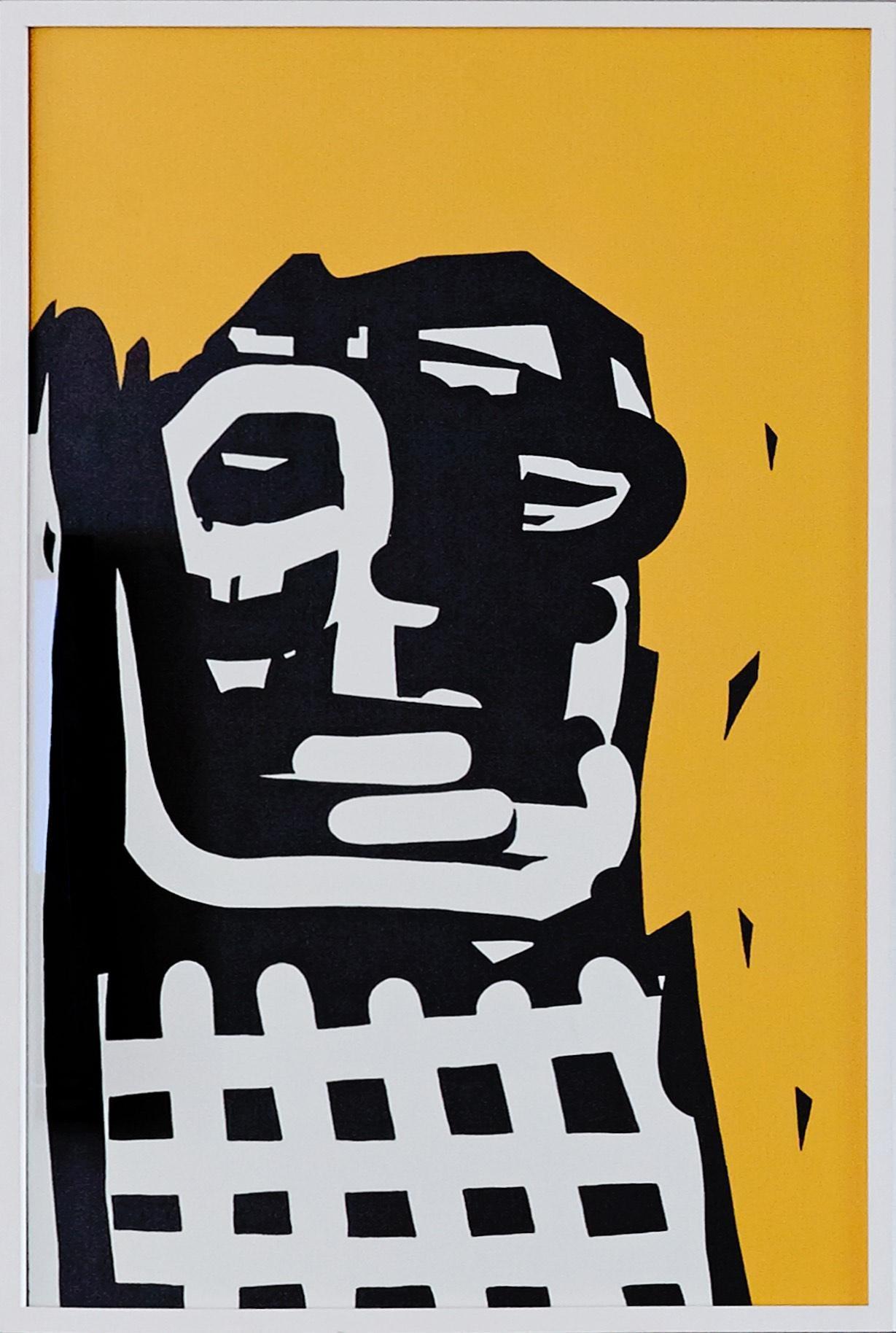 Beng - Pop Art Painting, Neo Pop, yellow, 21stC., modern art, abstract, Portrait