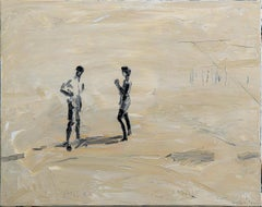 Distance - Minimalist, Oil on Canvas, 21st Century,  Figurative Painting