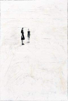 After June - Minimalist, Oil on Canvas, 21st Century,  Figurative Painting