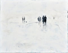 Walking Wounded - Minimalist, Oil on Canvas, 21st Century,  Figurative Painting