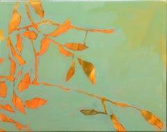Astwerk_134 -  Minimalist, Acrylic, Resin on Wood, 21st Century, Floral Painting