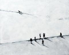 Staffel - Minimalist, Acrylic on Canvas, 21st Century,  Figurative Painting