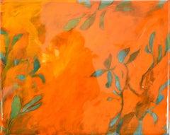 Astwerk_137 -  Minimalist, Acrylic, Resin on Wood, 21st Century, Floral Painting