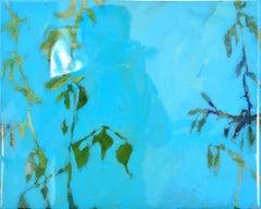 Astwerk_138 -  Minimalist, Acrylic, Resin on Wood, 21st Century, Floral Painting