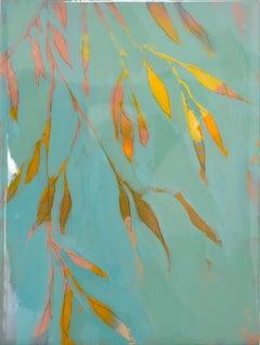 Astwerk_234 -  Minimalist, Acrylic, Resin on Wood, 21st Century, Floral Painting