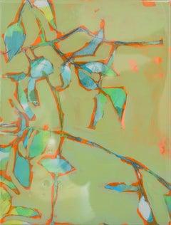 Astwerk_237 -  Minimalist, Acrylic, Resin on Wood, 21st Century, Floral Painting
