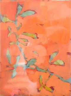 Astwerk_238 - Minimalist, Acrylic, Resin on Wood, 21st Century, Floral Painting