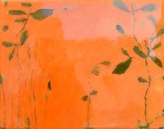 Astwerk_86 - Minimalist, Acrylic, Resin on Wood, 21st Century, Floral Painting