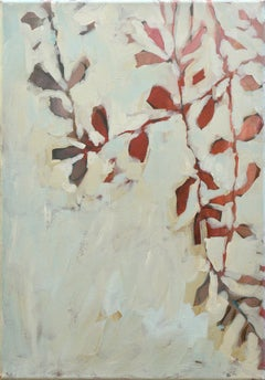 Stems I - Minimalist, Acrylic on Canvas, 21st Century, Floral Painting