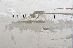 Garden - Minimalist, Concrete on Canvas, 21st Century,  Figurative Painting