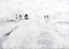 Vacío En El Medio - Minimalist, Oil, Canvas, 21st Century,  Figurative Painting