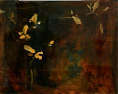 Astwerk_88- Minimalist, Acrylic, Resin on Wood, 21st Century, Floral Painting