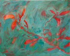 Astwerk_136- Minimalist, Acrylic, Resin on Wood, 21st Century, Floral Painting