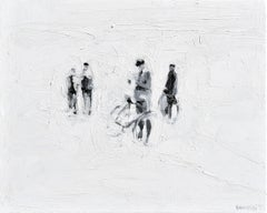 Die Partei - Minimalist, Oil on Canvas, 21st Century, Figurative Painting