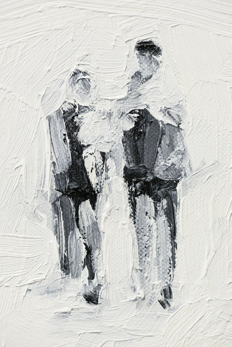 Die Partei - Minimalist, Oil on Canvas, 21st Century, Figurative Painting For Sale 4