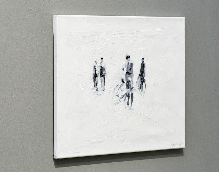 Die Partei - Minimalist, Oil on Canvas, 21st Century, Figurative Painting For Sale 6