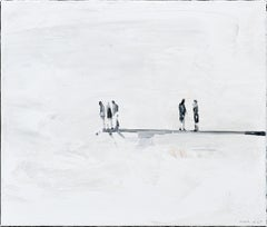 Steppingstone - Minimalist, Oil on Canvas, 21st Century, Figurative Painting