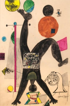 untitled (acrobat juggling balls with a tuba)
