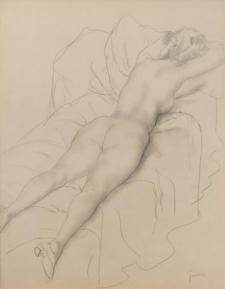 Reclining Female Nude - Art by Emil Ganso