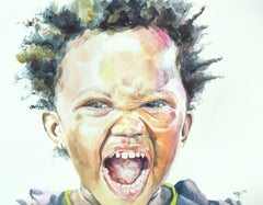 Beige Portrait Drawings and Watercolours