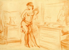 Untitled (Woman in Stockings), Standing Female Nude on reverse, double sided